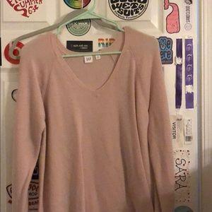 blush colored gap sweater